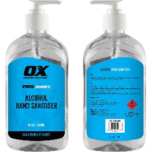 OX Alcohol Hand Sanitiser - 500ml