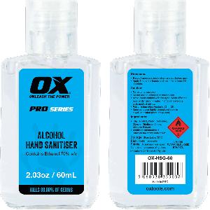 OX Alcohol Hand Sanitiser - 60mL