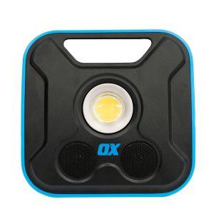 OX Pro 2300 Lumen LED Work Light with inbuilt wireless Speakers – Rechargeable