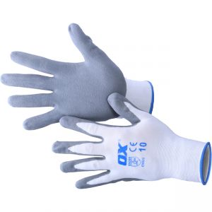 Image for OX Nylon Lined Nitrile Glove - Pair