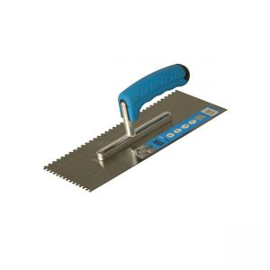 Image for OX Trade 8 x 8mm Notch Trowel - Rubber Grip